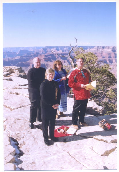Vow renewal ceremony at the Grand Canyon 2007