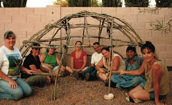 Building a sweat lodge