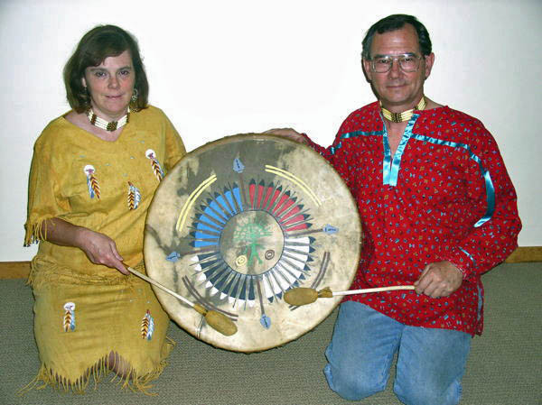 Gary Gent and Debbie Gent with Mother Drum
